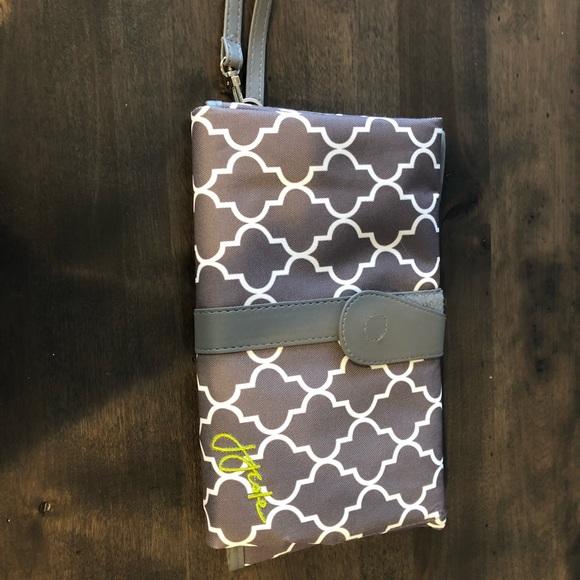 JJ Cole Freeman Baby Diaper Bag Citrine Lattice with Changing Pad NEW 2016